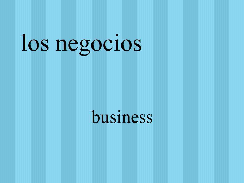 los negocios business