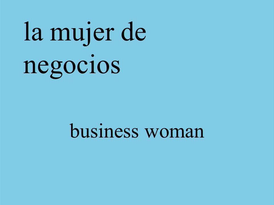 la mujer de negocios business woman