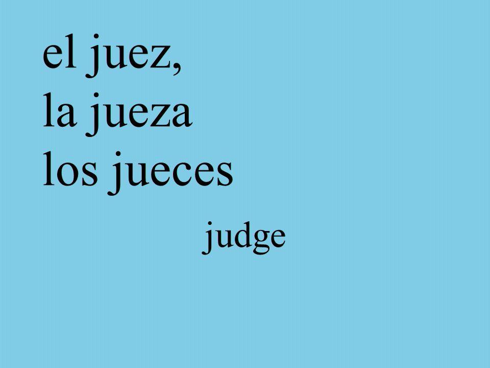 el juez, la jueza los jueces judge