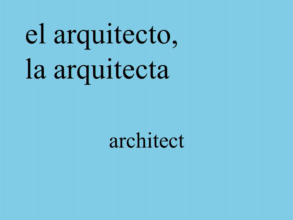 el arquitecto, la arquitecta architect