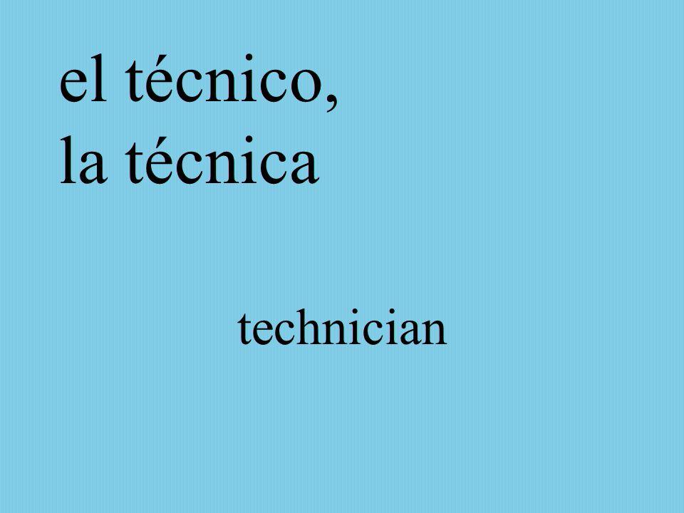 el técnico, la técnica technician