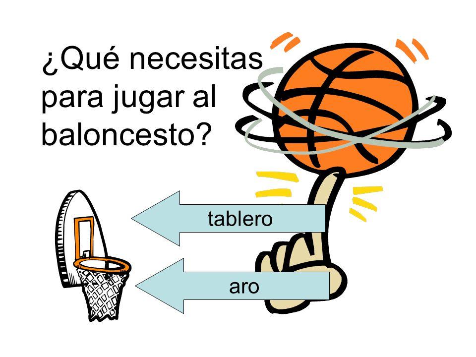 ¿Qué necesitas para jugar al baloncesto? tablero aro