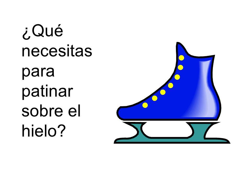 ¿Qué necesitas para patinar sobre el hielo?