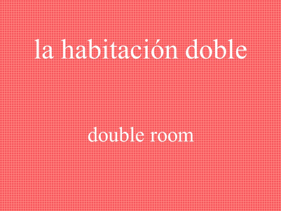 la habitación individual single room