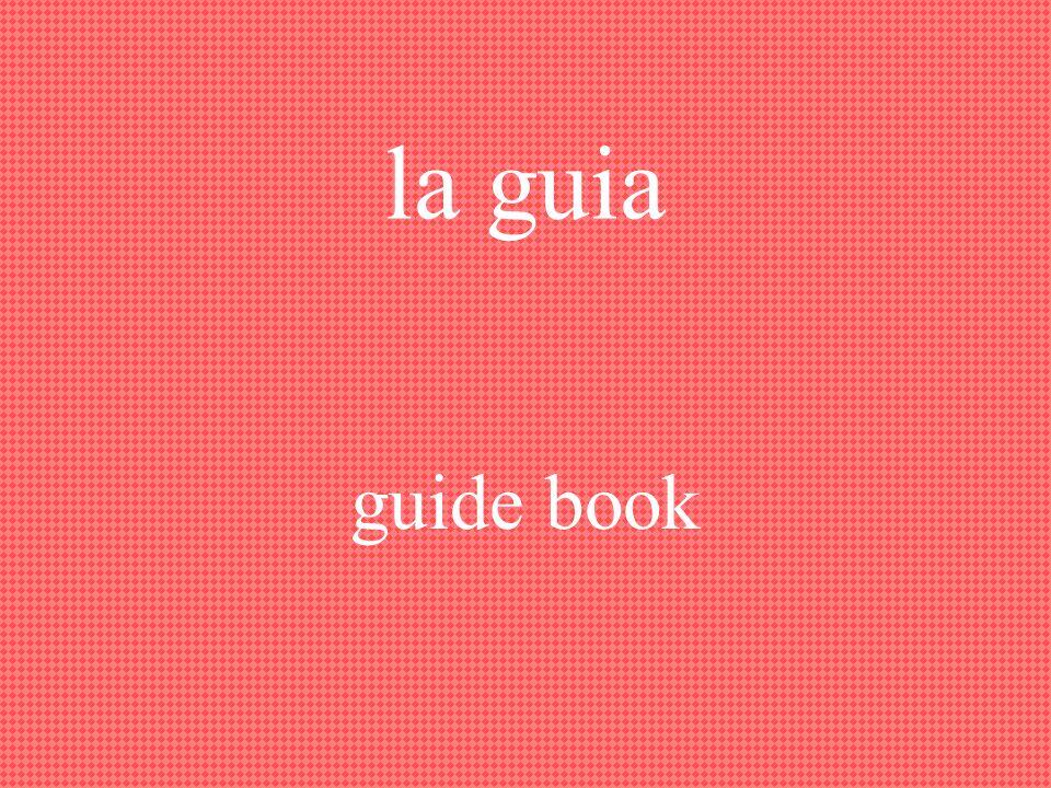 el guía, la guía guide
