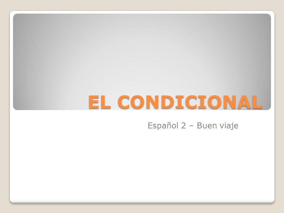 EL CONDICIONAL Español 2 – Buen viaje