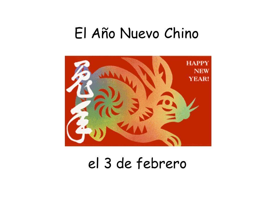 el 3 de febrero El Año Nuevo Chino