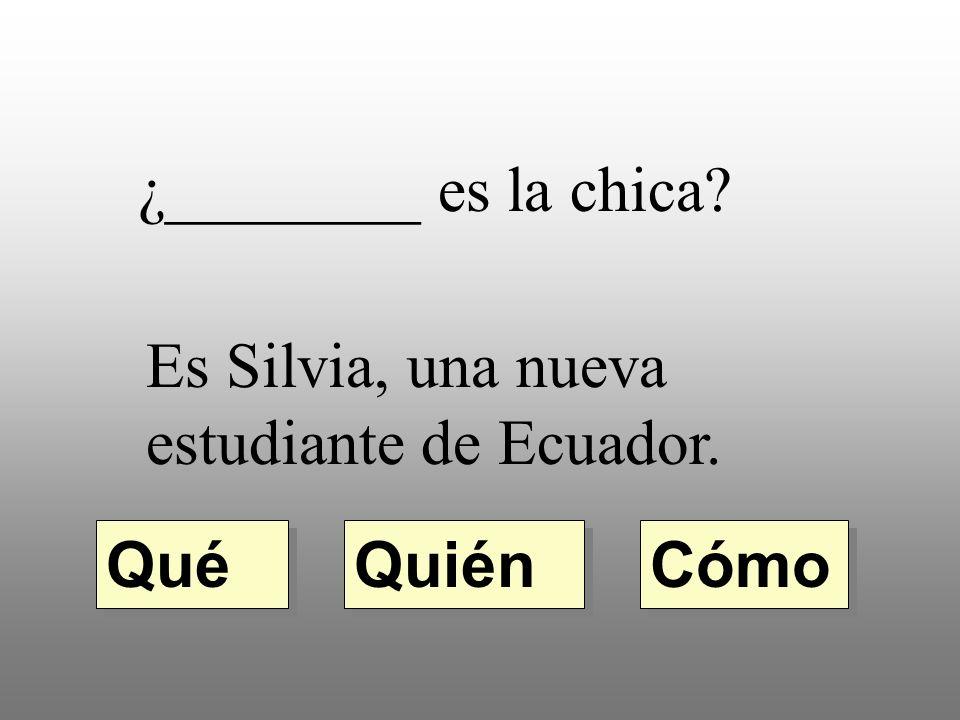 ¿________ sabe la respuesta? Quién Qué dónde Yo lo sé.