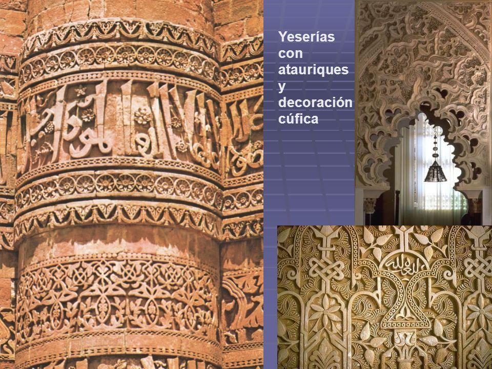 Yeserías con atauriques y decoración cúfica