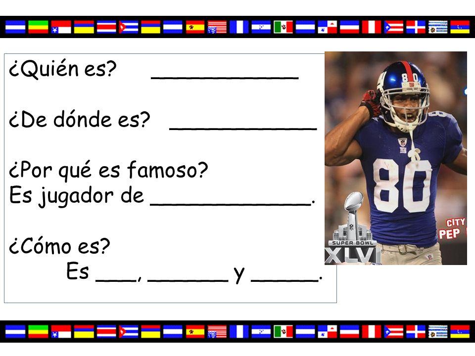 ¿Quién es.Victor Cruz ¿De dónde es. Puerto Rico ¿Por qué es famoso.