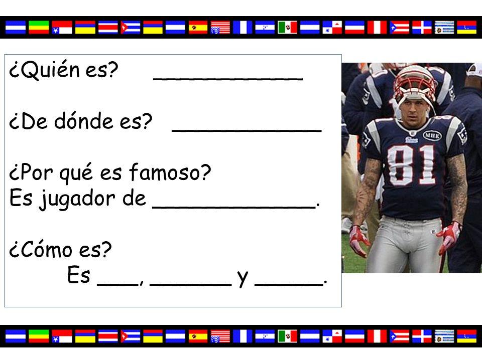 ¿Quién es.Aaron Hernández ¿De dónde es. Puerto Rico ¿Por qué es famoso.