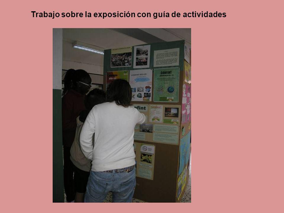 Trabajo sobre la exposición con guía de actividades