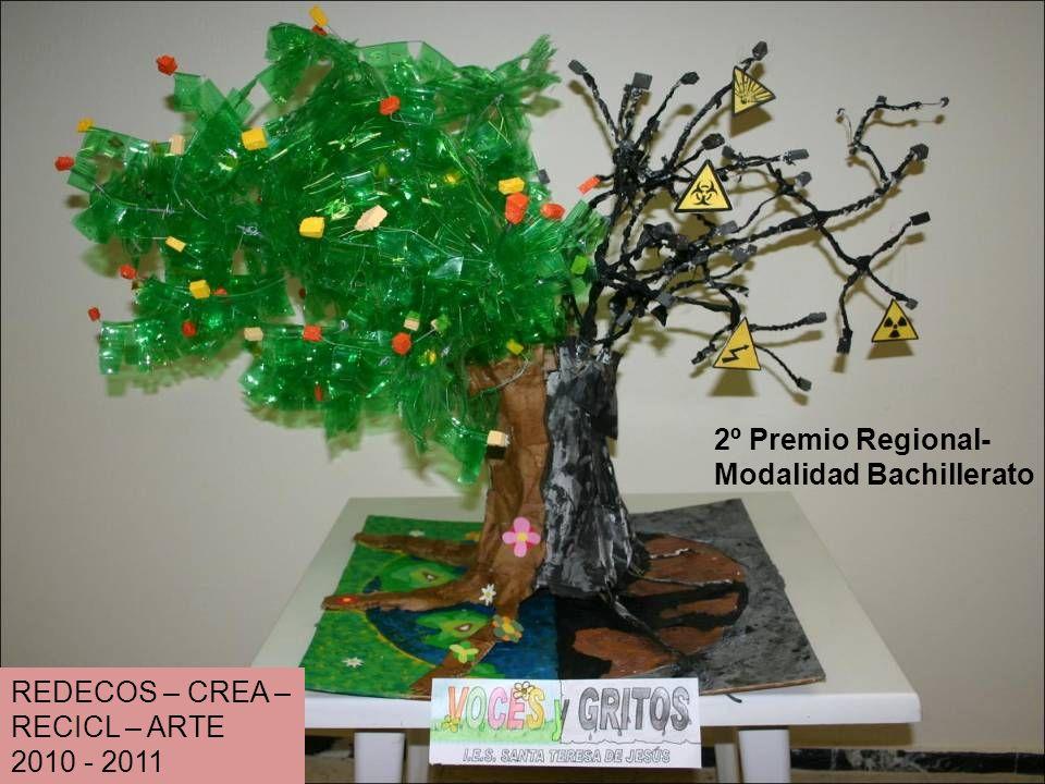 REDECOS – CREA – RECICL – ARTE 2010 - 2011 2º Premio Regional- Modalidad Bachillerato