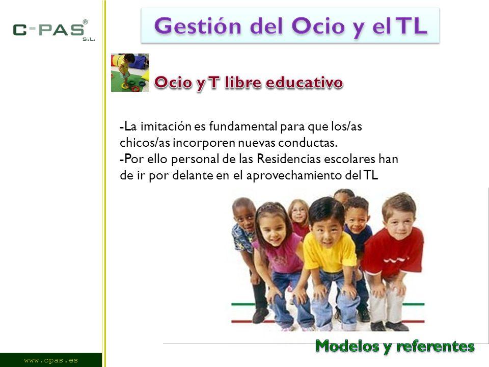 www.cpas.es -La imitación es fundamental para que los/as chicos/as incorporen nuevas conductas.