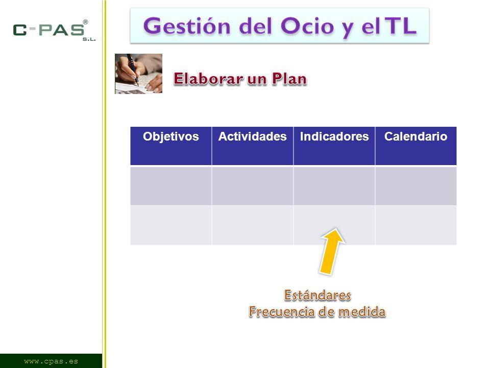 www.cpas.es ObjetivosActividadesIndicadoresCalendario