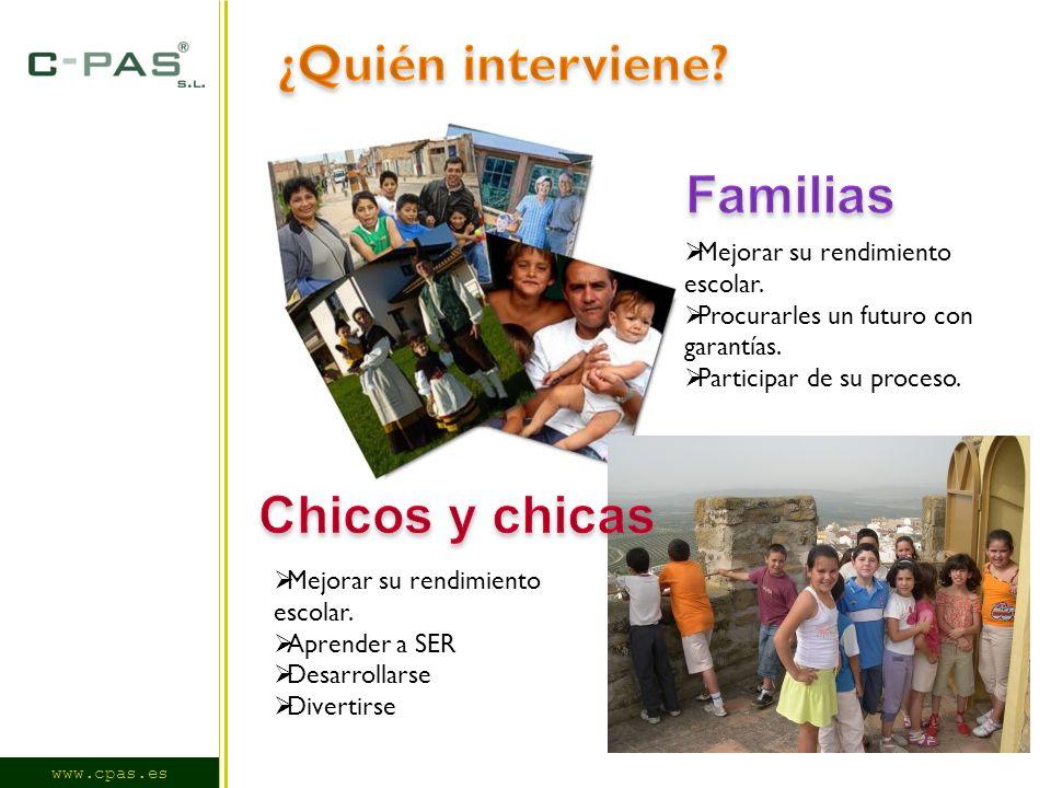 www.cpas.es Mejorar su rendimiento escolar.