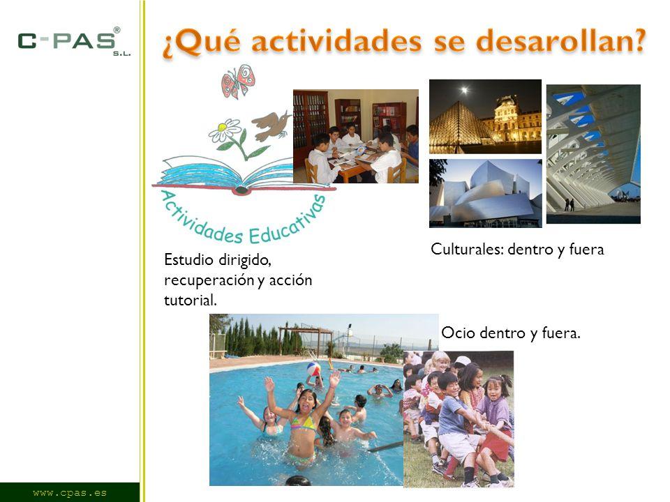 www.cpas.es Estudio dirigido, recuperación y acción tutorial.