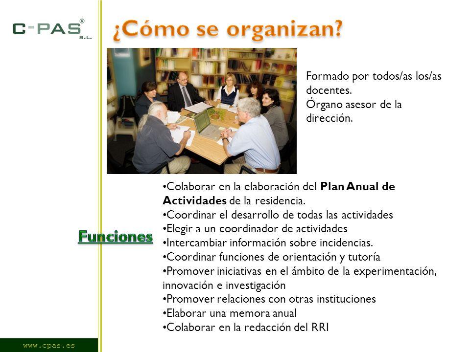www.cpas.es Formado por todos/as los/as docentes. Órgano asesor de la dirección.