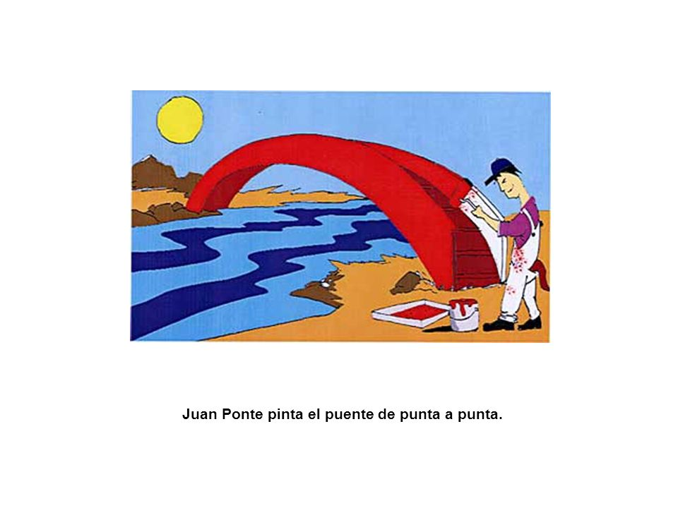 Juan Ponte pinta el puente de punta a punta.
