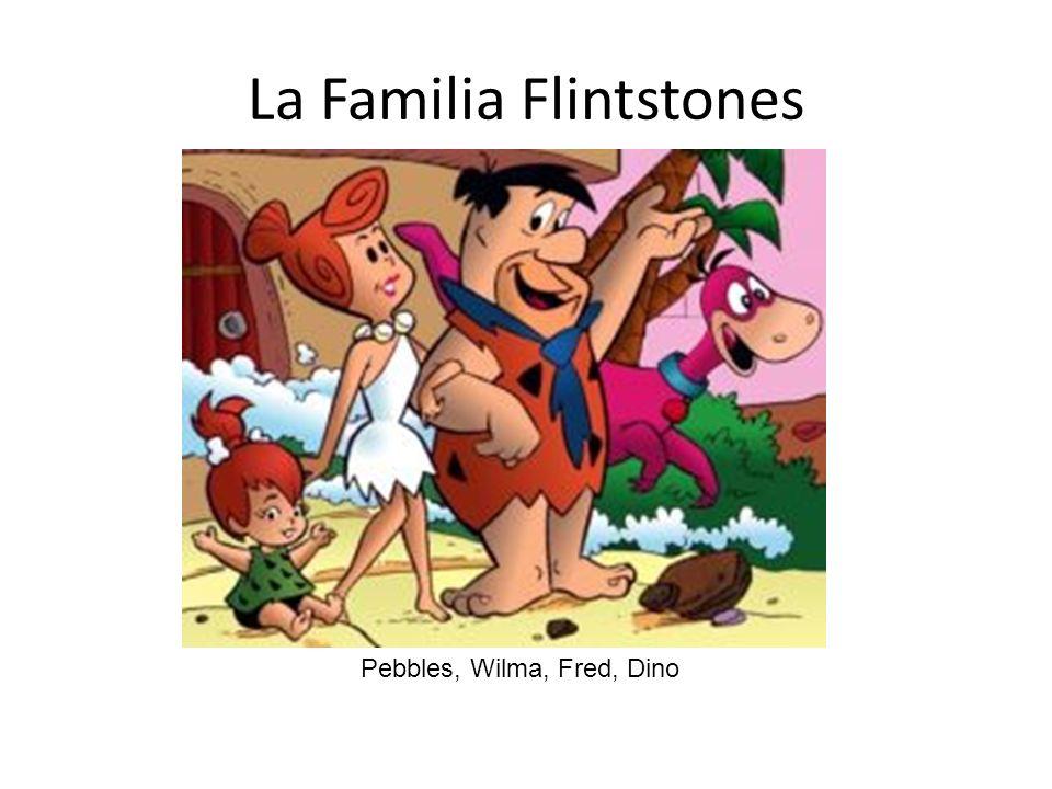 La Familia Flintstones Pebbles, Wilma, Fred, Dino