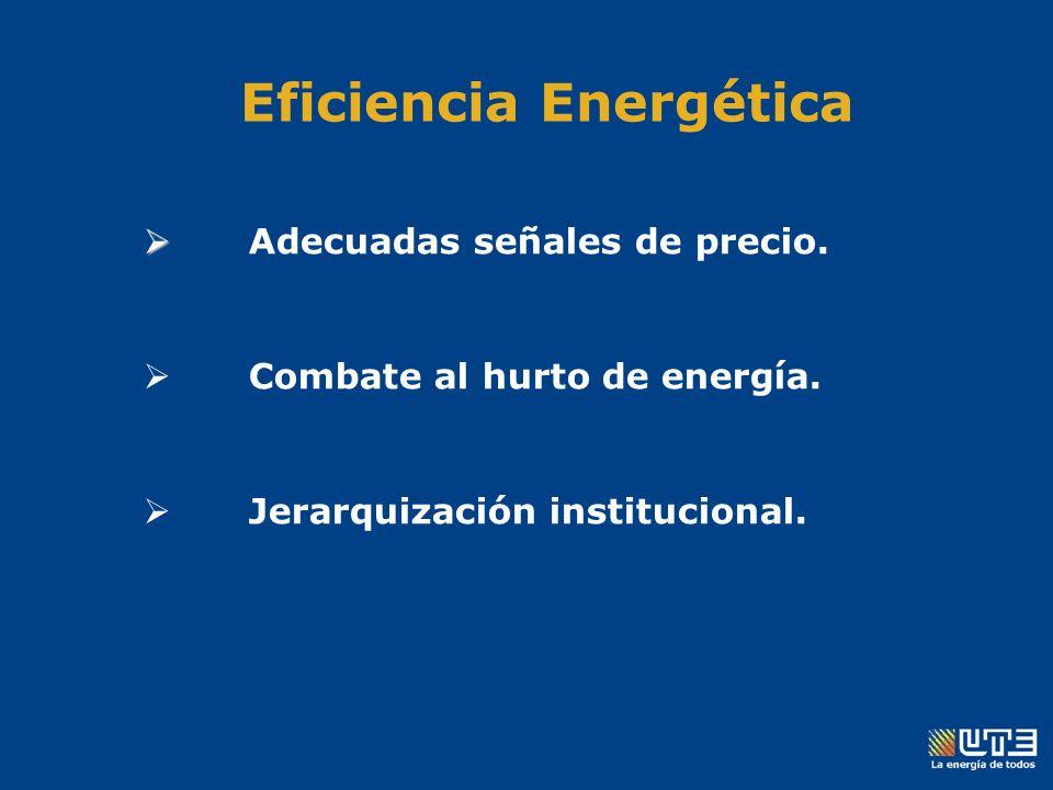Eficiencia Energética Adecuadas señales de precio.