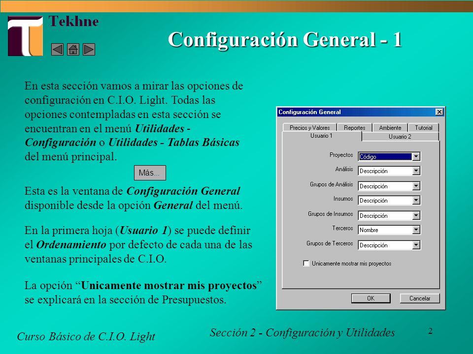 3 Configuración General - 2 Curso Básico de C.I.O.
