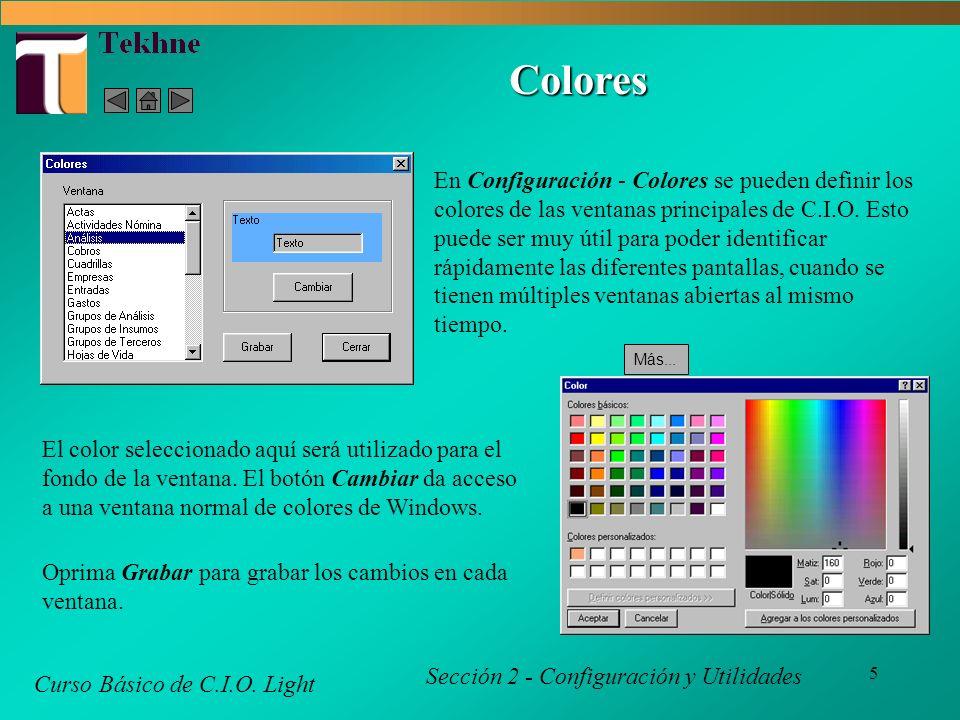 5 Colores Curso Básico de C.I.O.