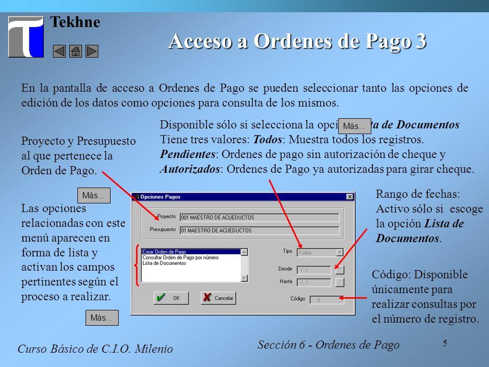 6 Tekhne Acceso a Ordenes de Pago 4 Curso Básico de C.I.O.
