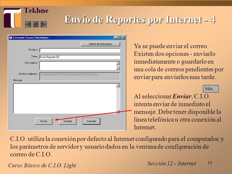 10 Envío de Reportes por Internet - 4 Curso Básico de C.I.O.