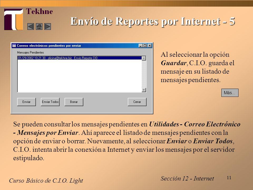 11 Envío de Reportes por Internet - 5 Curso Básico de C.I.O.