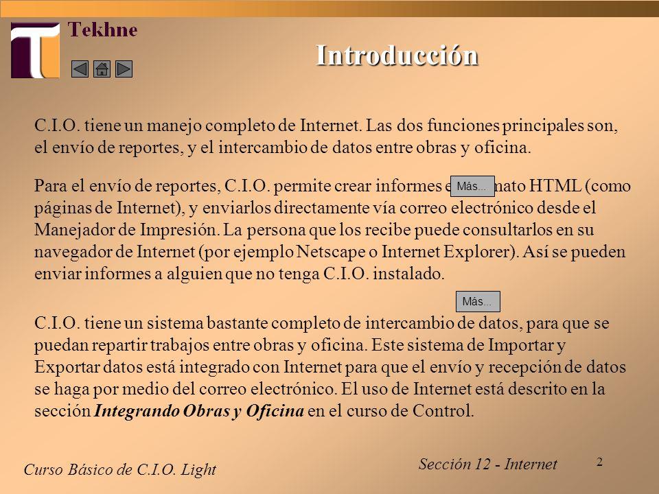 3 Configuración - 1 Curso Básico de C.I.O.