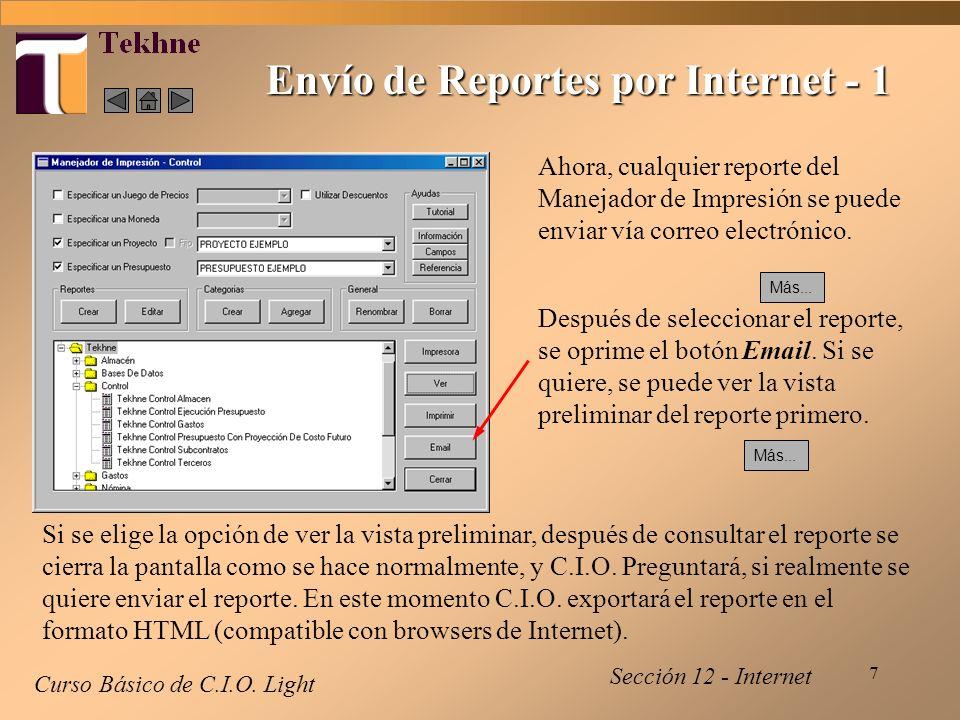 7 Envío de Reportes por Internet - 1 Curso Básico de C.I.O.