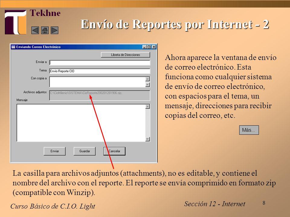 8 Envío de Reportes por Internet - 2 Curso Básico de C.I.O.
