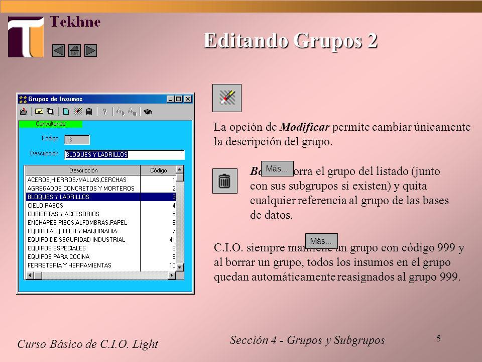 5 Editando Grupos 2 Curso Básico de C.I.O.