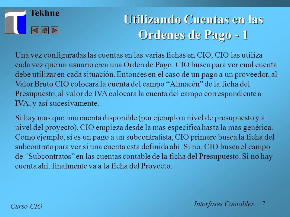 18 Tekhne Curso CIO Interfases Contables Editor de Campos - 2 Tamaño - el tamaño del campo.