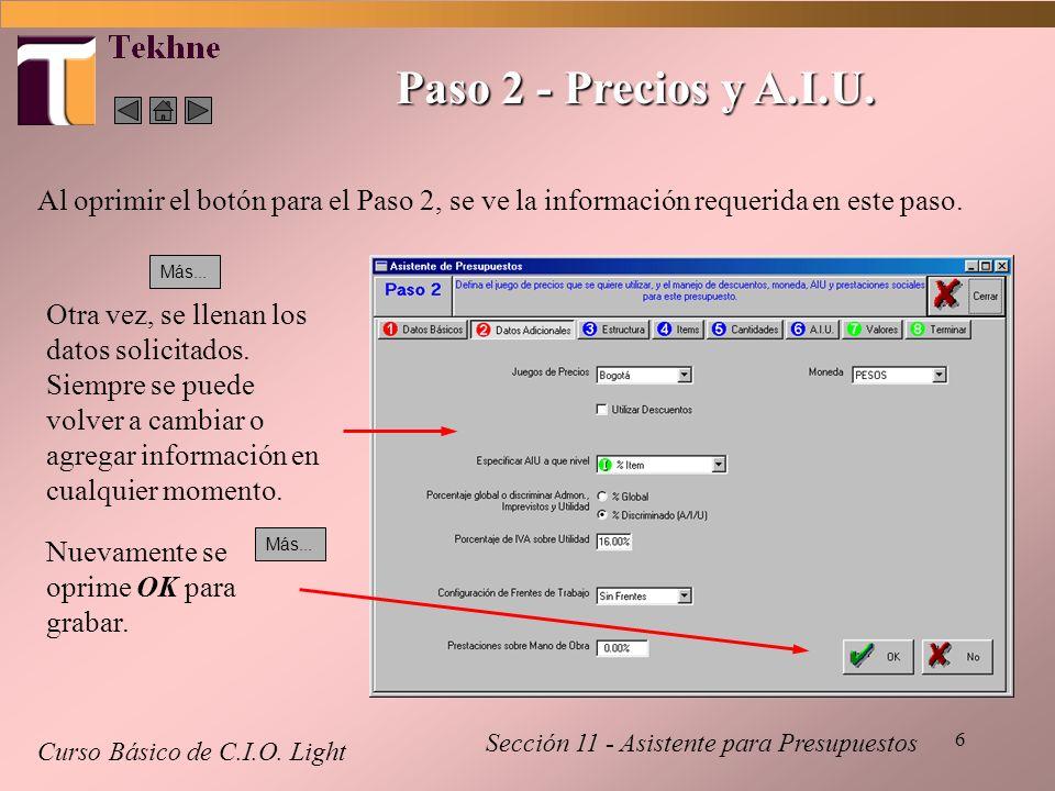 17 Paso 6 - A.I.U.Curso Básico de C.I.O.