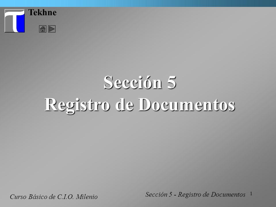 2 Tekhne Registro de Documentos Conceptos Básicos En C.I.O.