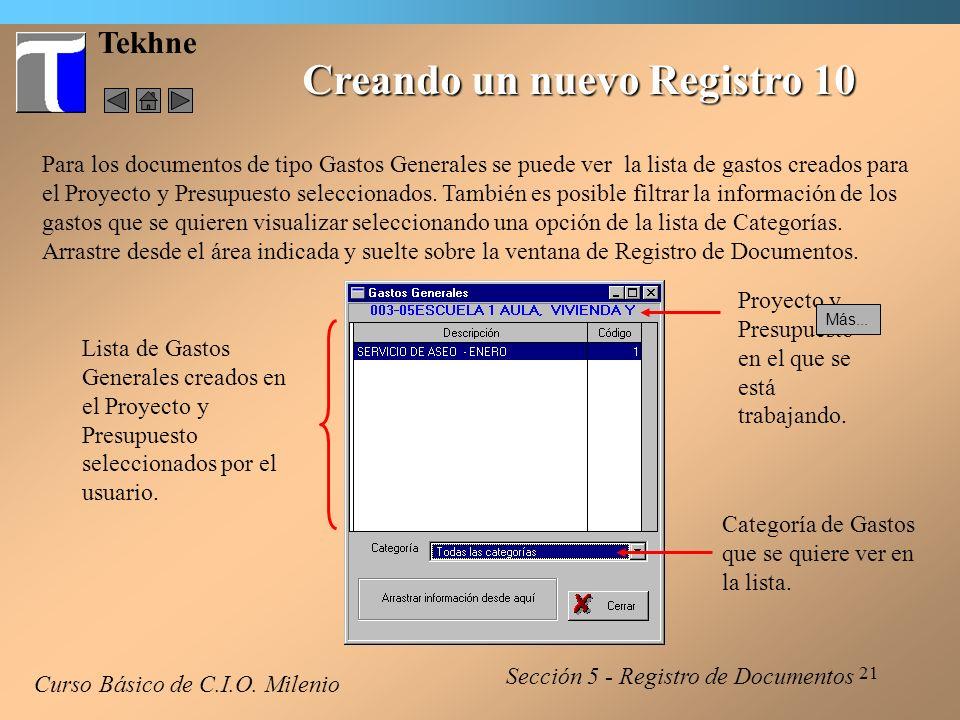 22 Tekhne Modificando un Registro Curso Básico de C.I.O.