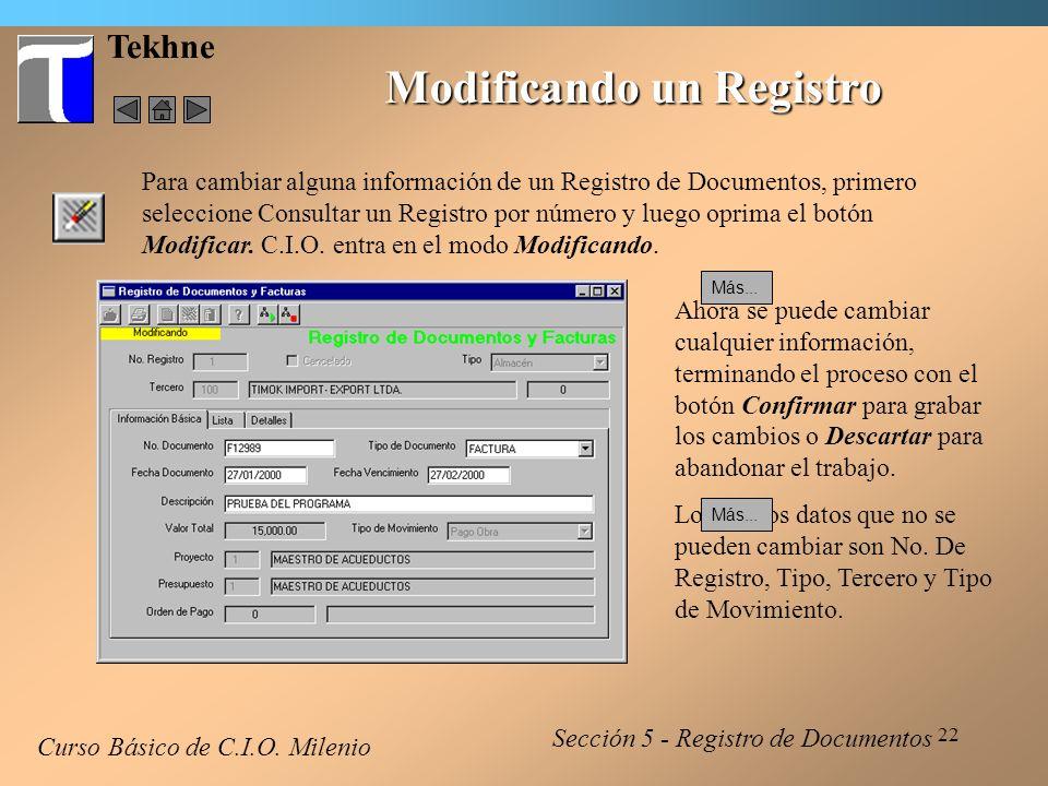 23 Tekhne Borrando un Registro Curso Básico de C.I.O.