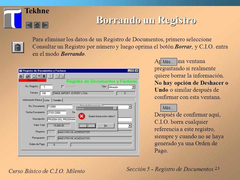 24 Tekhne Notas de Crédito - 1 Desde la ventana inicial de Registro de Documentos y Facturas, se puede crear Notas de Crédito.