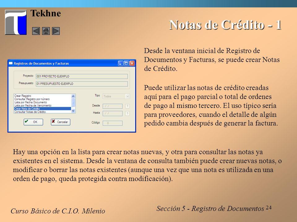 25 Tekhne Notas de Crédito - 2 La ventana para crear notas es bastante sencilla.