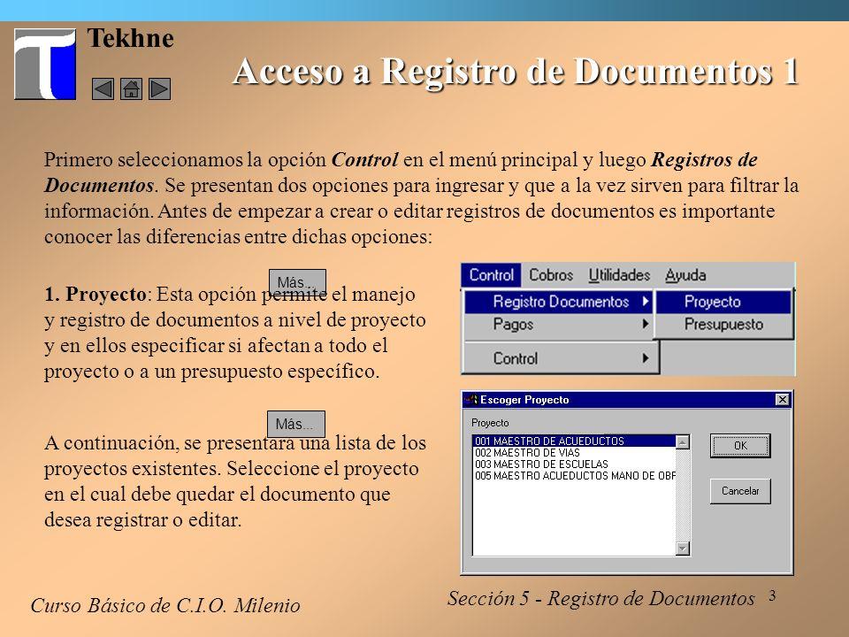 4 Tekhne Acceso a Registro de Documentos 2 Curso Básico de C.I.O.