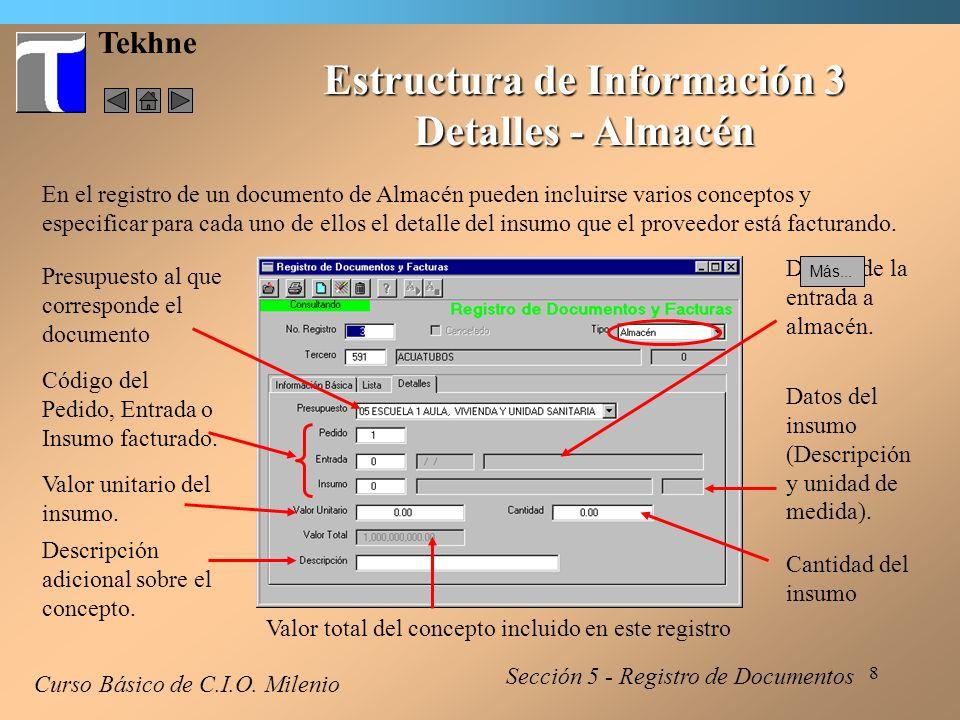 9 Tekhne Estructura de Información 4 Detalles - Subcontrato Curso Básico de C.I.O.
