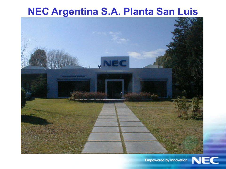 NEC Argentina Plant Profile FLas operaciones comenzaron en 1986.