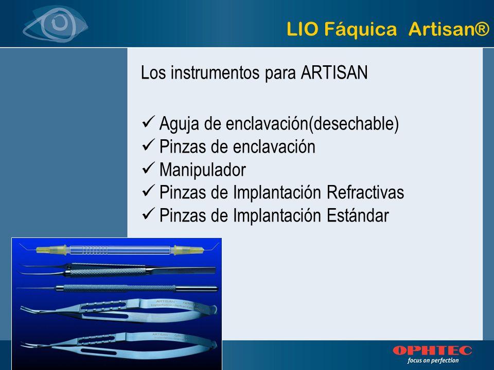Los instrumentos para ARTISAN Aguja de enclavación(desechable) Pinzas de enclavación Manipulador Pinzas de Implantación Refractivas Pinzas de Implanta