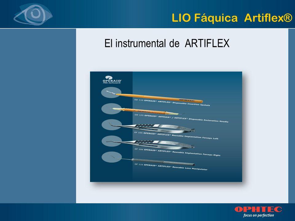 El instrumental de ARTIFLEX LIO Fáquica Artiflex®