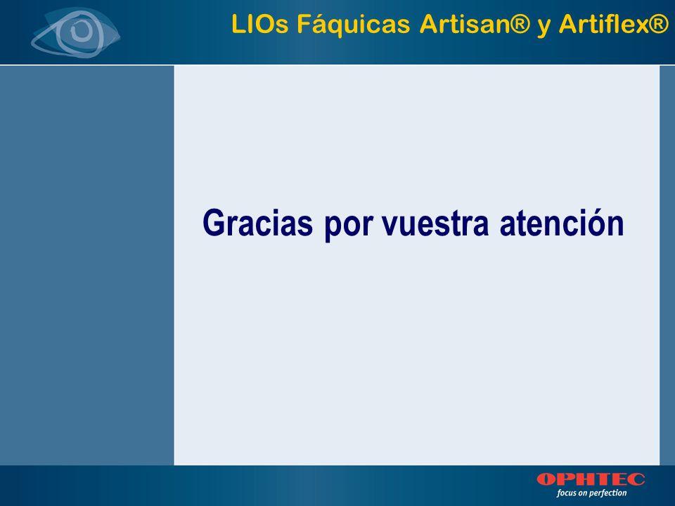 Gracias por vuestra atención LIOs Fáquicas Artisan® y Artiflex®