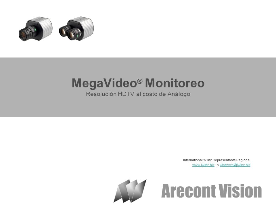 © 2007 Arecont Vision Confidential Características de la Familia Mega Pixel Sensibilidad hasta.01 lux --- extremadamente bajo nivel de luz Múltiples entradas de alimentación Fuentes de alimentación por separado ya no es necesario para las cámaras.