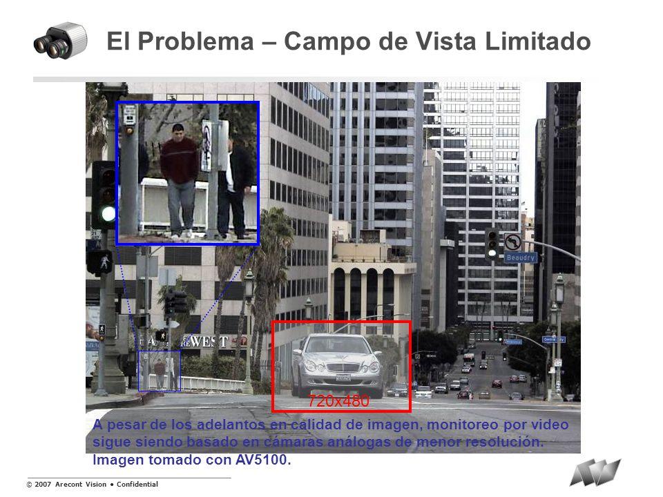 © 2007 Arecont Vision Confidential Pan, Tilt & Zoom Instantáneo Electrónico con imágenes simultaneas de Video Panorámico y Zoomed SurroundVideo ® (8 Megapixel) AV8360 90 0 45 0 AV8180