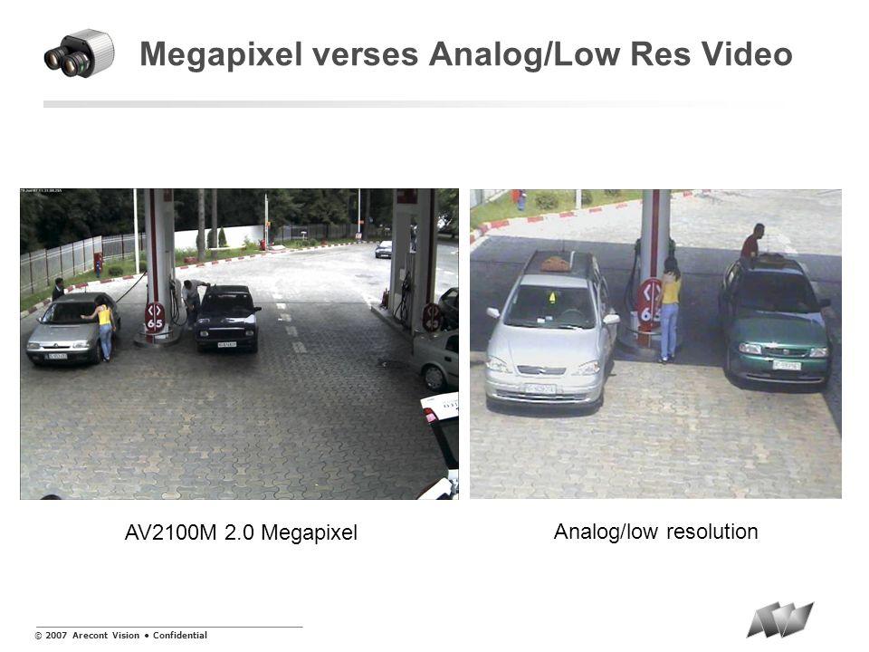 © 2007 Arecont Vision Confidential Problema A pesar de los adelantos en el mercado de consumidor masivo, monitoreo de video en seguridad esta basado en cámaras con baja resolución en el estándar de análogo MegaVideo TM System Analog CCTV System MegaVideo TM System Analog CCTV System